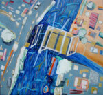 Alweer een brug, te koop/ te huur bij Galerie/Kunstuitleen Bollenstreek,120x100cm, €2400,--